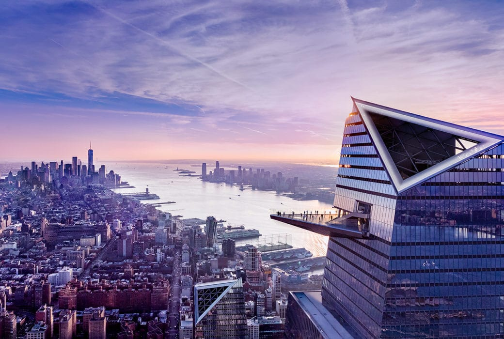 Aerial view of 30 Hudson Yards observation deck,